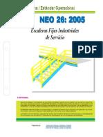 NEO-26 Escaleras Fijas Industriales de Servicio.
