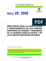 NEO-29 Directrices Para La Constitución y Funcionamiento de Los Comités Paritarios de Higiene y S