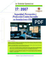 NEO-27 Seguridad, Prevención y Protección Contra Incendios en Instalaciones Eléctricas (NCC Nº 21