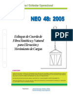 NEO-48 Eslingas de Cuerda de Fibra Sintética y Natural Para Elevación y Movimiento de Cargas.