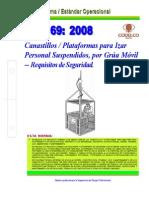 NEO-69 Canastillos Plataformas Para Izar Personal, Suspendidos Por Grúa Móvil – Requisitos de Se