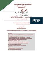 LAMPEA-Doc 2015 – numéro 22 / Vendredi 10 juillet 2015