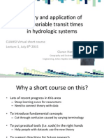 Theory and application of time-variable transit times in hydrologic systems