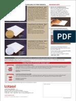 A4 Lotasil Plywood FormRelease Agent (Back)