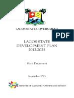 LAGOS STATE DEVELOPMENT PLAN 2012-2025