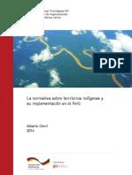 La normativa sobre territorios indígenas y su implementación en el Perú