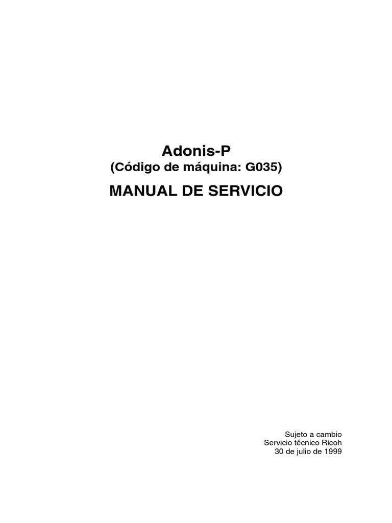 Manual de Servicio Ricoh AP-4500 en Español