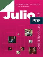Cartelera Cultural  Julio 2015