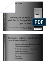 Desinfeccion Ambiental y Desinfeccion de Superficies Por via Aerea