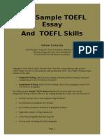 Free Sample TOEFL Essays