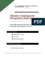 Modulo de Investigación Etnográfica -U Tolima