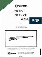 Crosman 760 Factory Service Manual | Valve | Machines