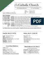Bulletin for July 12, 2015