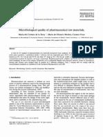 Microbiologia de Materias Primas