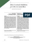 The Feasibility of Vocational Rehabilitation, 2008