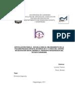 Articulacion Familia-escuela Para El Mejoramiento de La Psicomotricidad Infantil Del Cei Barbula i