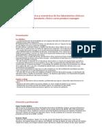 Gestión Técnica y Económica de Los Laboratorios Clínicos