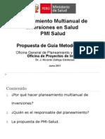 Planeamiento Multianual Inversiones en Salud