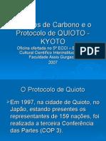 Cr%E9ditos de Carbono e o Protocolo de QUIOTO