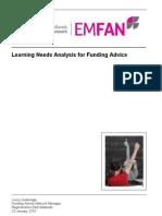 Learning Needs Analysis for Funding Advisors