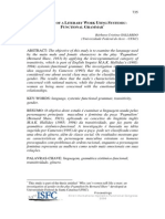 Analysis of a Literary Work Using SFL