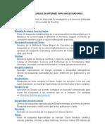 Guía de Recursos en Internet Para Investigadores