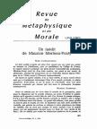 Merleau-Ponty - Inedit (1962)