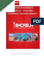 Propuesta Economica Proyecto Cajamarca- Celendin