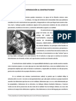 Breve Introducción Al CONSTRUCTIVISMO