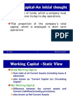 Working Capital-An Initial Thought