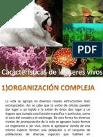 1)Características de Los Srres Vivos - Bioelementos
