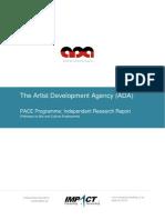 Artist Development Agency Research