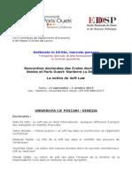 Programme Rencontres Venise Nanterre 2014