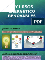 RECURSOS ENERGETICOS RENOVABLES