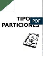 Tipo de Particiones