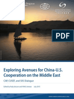 Exploring Avenues for China-U.S. Cooperation on the Middle East