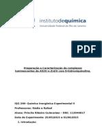 Preparação e Caracterização de Complexos Luminescentes de Al