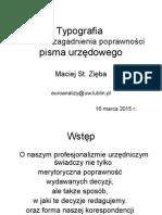 Typografia Pisma Urzędowego - M St Zięba 2015-2