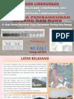UKL UPL Pembangunan Ruko dan Gudang Kota Serang 2015