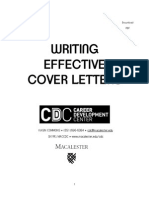 Cover Letter Writing With Examples