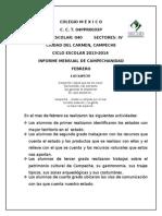 Informe de Campechanidad FEBRERO 2014
