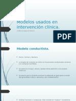 Modelos Usados en Intervención Clínica