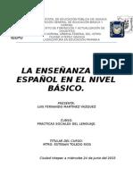Enseñanza Del Español en El Nivel Basico