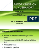 Seminar on Animal Welfare