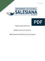 Herramientas Informaticas Para La Informacion(Tecnicas de Investigacion )