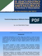Control de Impurezas en Refinacion Electrolitica