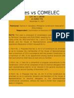 Gonzales vs COMELEC