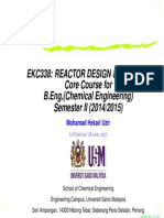 Reactor Design and Analysis (MHU)