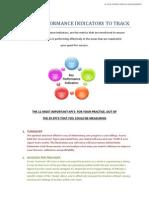 11 Suggested Key Performance Indicators
