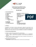 Silabo Bioquímica Odontología Universidad Alas Peruanas
